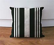 Black and white stripe pillow cover linen cushion case throw pillows euro sham pillow case18x18 pillow cover sofa d¨¦cor by LOOKTY