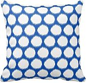 Blue and White Polka Dots Pillow 18