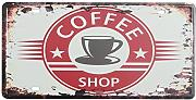 Bluelover Coffee License Plate Tin Sign Vintage Metal Plaque Poster Bar Pub Home Wall Decor