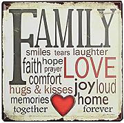 BlueLover Familie Liebe Tin Sign Vintage Metall Plaque Poster Bar Pub Home-Wand-Dekor