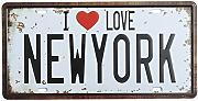 Bluelover New York License Plate Tin Sign Vintage Metal Plaque Poster Bar Pub Home Wall Decor