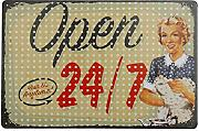 Bluelover Open Tin Sign Vintage Metal Plaque Poster Bar Pub Home Wall Decor