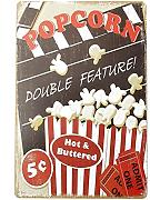 Bluelover Popcorn Tin Sign Vintage Metal Plaque Poster Bar Pub Home Wall Decor