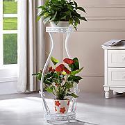 Blumen Rahmen Eisen DIY Multi Layer Boden Hngen Orchideen Tpfe Leiter Grn Rettich