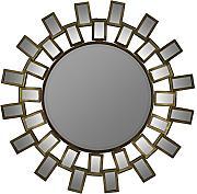 runder spiegel gold g nstig online kaufen lionshome. Black Bedroom Furniture Sets. Home Design Ideas
