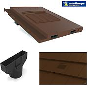 Brown Marley Modern / Mini Stonewold Profile Roof Vent Tile & Pipe Adaptor by Manthorpe