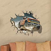 Calli 3D-Geländewagen Decals Wand Loch Wall Art Stickers 27 Zoll-Wechsel Home Decor