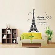 Calli Home Decoration Romatic Paris Eiffelturm Wandaufkleber Aufkleber