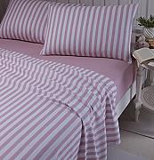 Produktbild: Catherine Lansfield gebürstet Stripe Single-Bettlaken-Set, pink