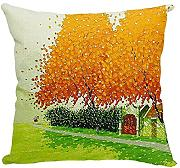CCTUSGSH Beautiful Tree Natural Scenery Cotton Throw Pillow Case Cushion Cover 18 X 18 Inches One Side