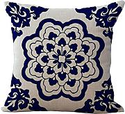 Produktbild: Chris Factory Direct Chinese Style Blue And White Porcelain Flower Pattern Cotton Throw Pillow Home Decor Sofa Chair Back Cushion