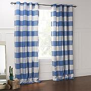 CLL/ zwei Panele  Blau Blumen / Pflanzen Baumwolle Panel , Double Pleated-2* , Double Pleated-2*