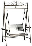 hollywoodschaukel metall g nstig online kaufen lionshome. Black Bedroom Furniture Sets. Home Design Ideas