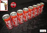 Produktbild: Coca Cola Dosen Aufsteller Barregal Wandregal Plexiglas Display Regal CC Serve
