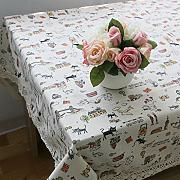 CU@EY  Comfort Baumwolle kurze Dining Table Table Runner Home Dekoration Tischdecke , 140*220