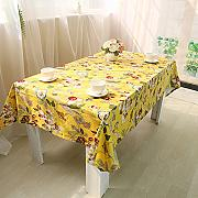 CU@EY  Komfort Esstisch Tisch runner Home Dekoration Tischdecke Coffee table cloth , Gelb , 140*140