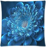 Custom Comfortable Style Zippered Pillowcase, Crystal clear Blue Flower PillowCase Pillow Cases Covers Standard Size 20