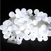 kugel lichterkette weiss g nstig online kaufen lionshome. Black Bedroom Furniture Sets. Home Design Ideas