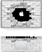 "decalshut Holz Muster Aufkleber Abnehmbare Schützende Haut Aufkleber für Apple Macbook Aufkleber, wall 2, MacBook Pro Retina 13.3"" inch (A1425/A1502)"