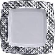 geschirr wei mit silberrand diamond collection teller 16x 16 cm. Black Bedroom Furniture Sets. Home Design Ideas