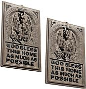 "Produktbild: Design Toscano CL93328 Wandtafel mit Drache ""God Bless This Home..."" plastisches Dekor"