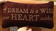 Produktbild: Disney Park A Dream Is A Wish Your Heart Makes Dekorative Toss Kissen Decorator von Disney