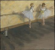 Edgar Degas - Degas Dancers Practicing at the Bar - Large - Semi Gloss - Black Frame