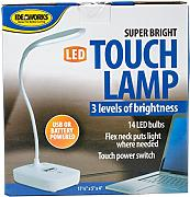 Edmunds Super Hell LED Touch Lampe, weiß