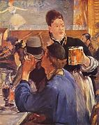 Edouard Manet - In a Bar - Medium - Archival Matte - Brown Frame
