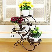 einfach European Style Flower Rack Eisen Multilayer Balkon Wohnzimmer Iron Flower Bonsai Rack Floor - Typ Indoor Green Rouge Orchidee Pflanzen Regale Einfache Blumentopf Regal ( Farbe : A )