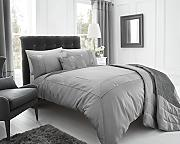 Eleanor James New Quilt Bettdecke Set, Modern und 2 Kissenbezüge, silber, Double