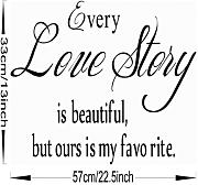 Englisch Sprüche Wall Stickers Love Story Wall Stickers