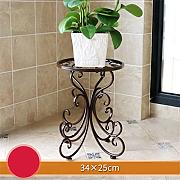 European Style Creative Metal Flower Racks Indoor und Outdoor Wohnzimmer Balkon Dekoration Single Layer Blumentopf Rack ( Farbe : #2 )