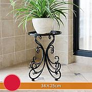 European Style Creative Metal Flower Racks Indoor und Outdoor Wohnzimmer Balkon Dekoration Single Layer Blumentopf Rack ( Farbe : #1 )