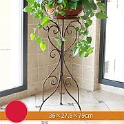 European Style Creative Metal Flower Racks Indoor und Outdoor Wohnzimmer Balkon Dekoration Single Layer Blumentopf Rack ( Farbe : #5 )