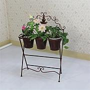 European Style Flower Racks Metall Kreativ Indoor und Outdoor Wohnzimmer Balkon Dekoration Retro Flower Pot Rack