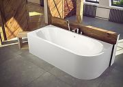 EXCLUSIVE LINE® Eckbadewanne Acryl AVITA 170x75 cm Links Schürze Ablauf Links