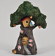 Fairy Garden UK Tree House Bird Garten Miniatur Home Decor – Elfe Fee Pixie Hobbit Zauberhafte Geschenkidee – Höhe: 15 cm