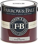 Farrow & Ball Estate Emulsion 2,5 Liter - ALL WHITE No. 2005