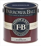 Farrow & Ball Estate Emulsion 2,5 Liter - DRAWING ROOM BLUE No. 253