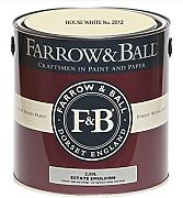Farrow & Ball Estate Emulsion 2,5 Liter - HOUSE WHITE No. 2012