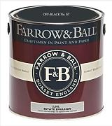 Farrow & Ball Estate Emulsion 2,5 Liter - OFF-BLACK No. 57