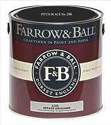 Farrow & Ball Estate Emulsion 2,5 Liter - PITCH BLACK No. 256