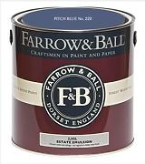 Farrow & Ball Estate Emulsion 2,5 Liter - PITCH BLUE No. 220