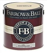 Farrow & Ball Estate Emulsion 2,5 Liter - SHADED WHITE No. 201