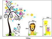 Fashion Forest Animal Giraffe Owl Tree Wall Decals Home Decoration Wallpaper Living Room Sofa Wall Stickers For Kids Rooms Home Decor