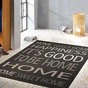 Produktbild: Flachgewebe Design Teppich Happiness It´s Good To Be Home Sisal Optik anthrazit 101689
