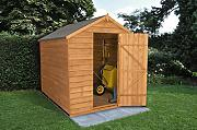 Forest oda68nwhd 8 x 6 Ft Gartenhaus Sicherheit Garten Shed – Autumn Gold