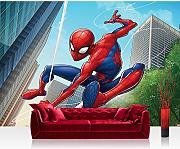 Fototapete 368x254cm PREMIUM Wand Foto Tapete Wand Bild Papiertapete - Marvel - SPIDERMAN Tapete Marvel Spiderman Cartoon bunt - no. 3377