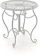 metalltisch rund garten g nstig online kaufen lionshome. Black Bedroom Furniture Sets. Home Design Ideas